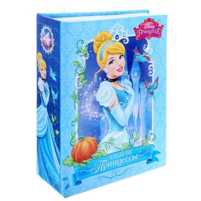 """1600 680x680 - Фотоальбом на 100 фото в твёрдой обложке """"Альбом принцессы"""", Принцессы: Золушка"""