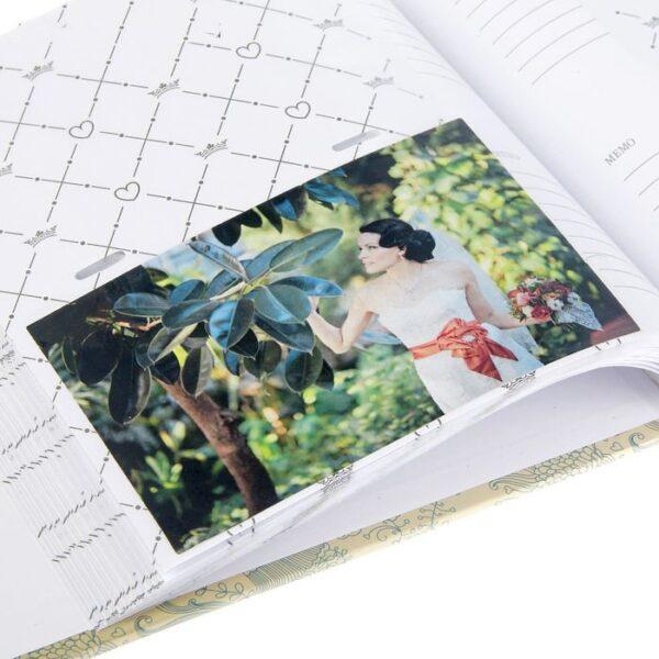 """Фотоальбом на 200 фото 10х15 см """"Нарисованные цветы"""" бумажные листы 22,5х22х5 см"""