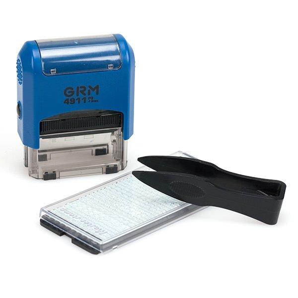 grm 4911 p3 diy - GRM 4911 P3 Typo Самонаборный штамп 3 строки,38х14 мм,1 касса 6005 ,упак ЭКОНОМ