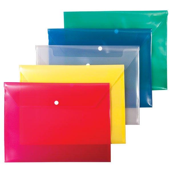 132e1cff61745d0075ab53c63c2037e9 - Пластиковый конверт РЕГИСТР А4, на кнопке, прозрачный 180 мкм, ассорти
