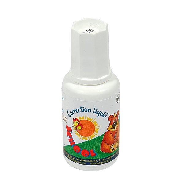 Корректирующая жидкость ГАММА ШКОЛЬНИК 27 мл с кисточкой