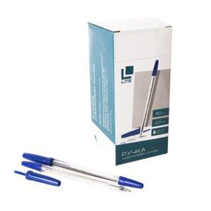Ручка шариковая LITE 51, c прозрачным корпусом, 0,7 мм, синяя