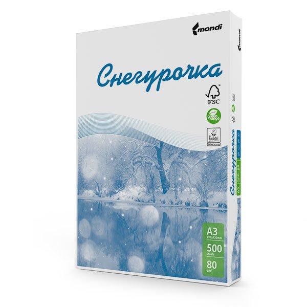 Бумага Снегурочка 500 листов (белизна CIE 146%, 80 г/м2, А3)