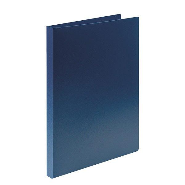 Папка с прижимами LITE А4 синяя пластик 500 мкм