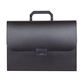 2a0f5158fe63aa1f74161e688af21b16 350x350 - Портфель inФОРМАТ А4, 13 отделений пластик 700 мкм, черный