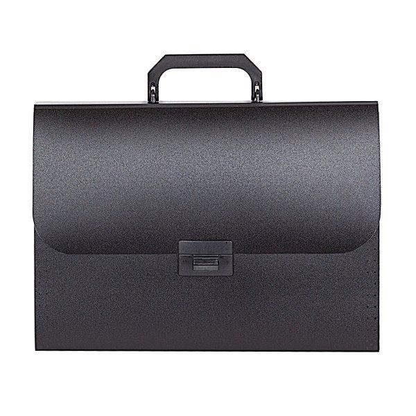 2a0f5158fe63aa1f74161e688af21b16 - Портфель inФОРМАТ А4, 13 отделений пластик 700 мкм, черный