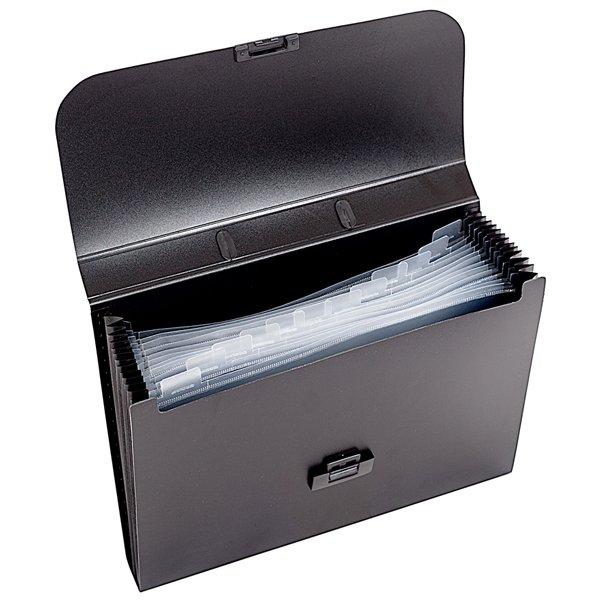 3f43684f6c5378624502c00f06802a13 - Портфель inФОРМАТ А4, 13 отделений пластик 700 мкм, черный