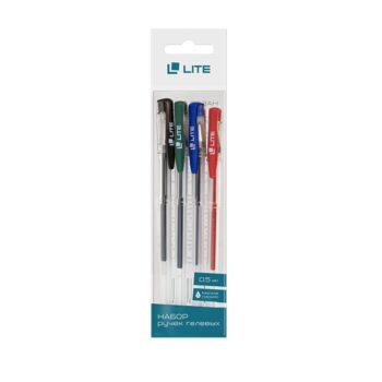4ff34d2f8e5f81876dfbe998d7ea9168 350x350 - Набор ручек гелевых LITE, 0,5, 4 цвета (синий, зеленый, красный, черный)