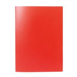 Папка с файлами LITE А4 60 файлов красная пластик 500 мкм