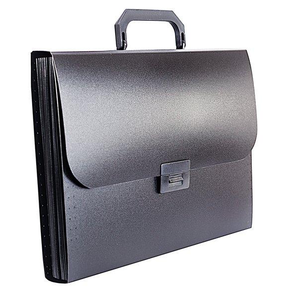 8dbf17550c3c2949a83712b375d43f4a - Портфель inФОРМАТ А4, 13 отделений пластик 700 мкм, черный
