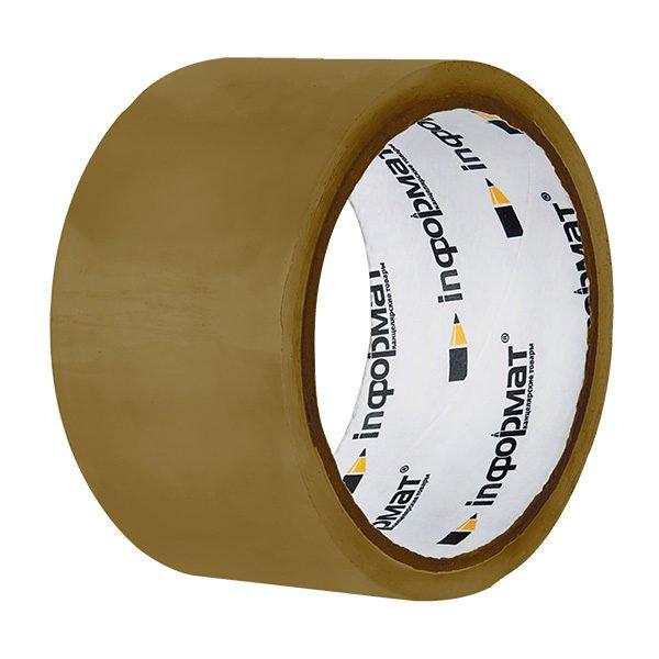 Лента упаковочная inФОРМАТ 48 мм х 36 м, 40 мкм коричневая