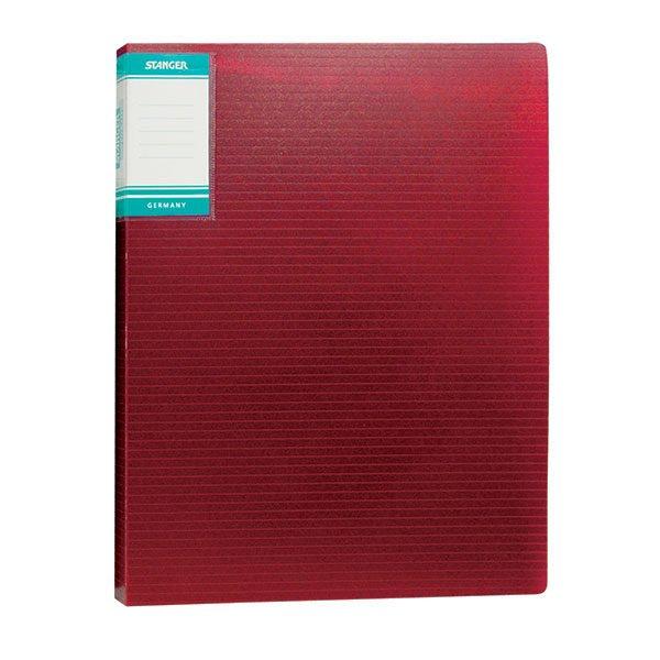 Папка с файлами STANGER HOR LINES А4 20 файлов, пластик 500 мкм, карман для маркировки
