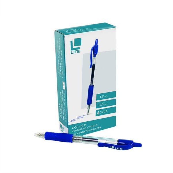 Ручка гелевая автоматическая LITE 0,5 мм синяя