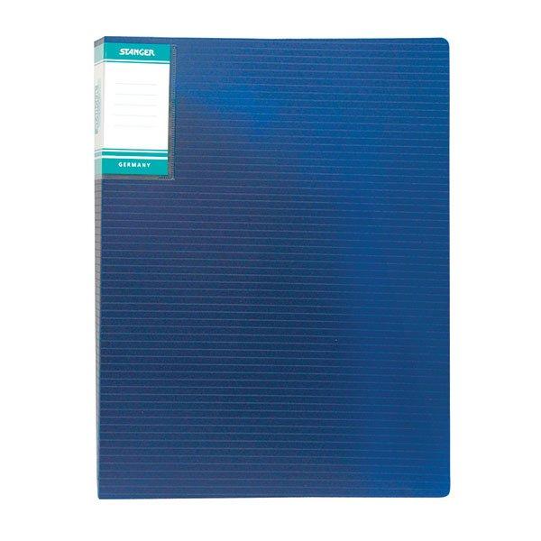 d016369a37a8ccefca54f3d178c8c395 - Папка с файлами STANGER HOR LINES А4 30 файлов, пластик 700 мкм, карман для маркировки