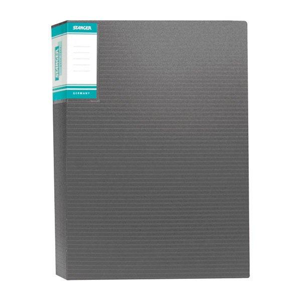 Папка с файлами STANGER HOR LINES А4 60 файлов, пластик 900 мкм, карман для маркировки