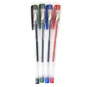 Набор ручек гелевых LITE, 0,5, 4 цвета (синий, зеленый, красный, черный)