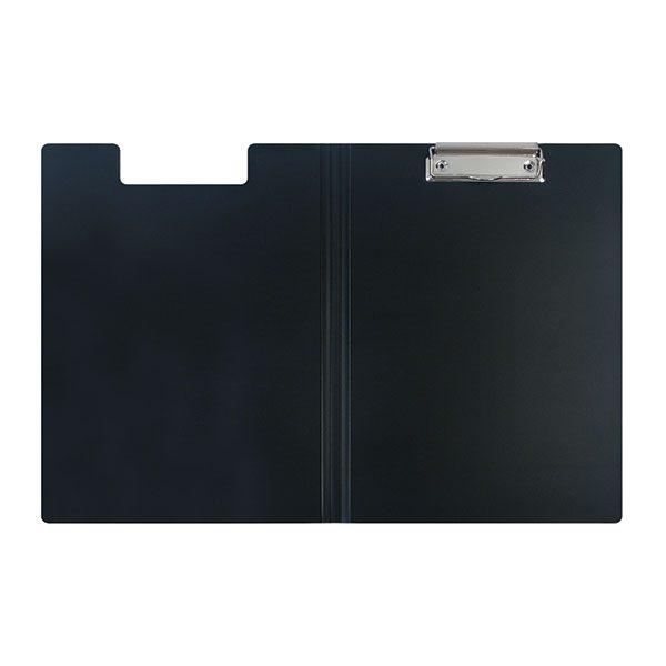 Планшет А4 с крышкой и зажимом, пластик черный
