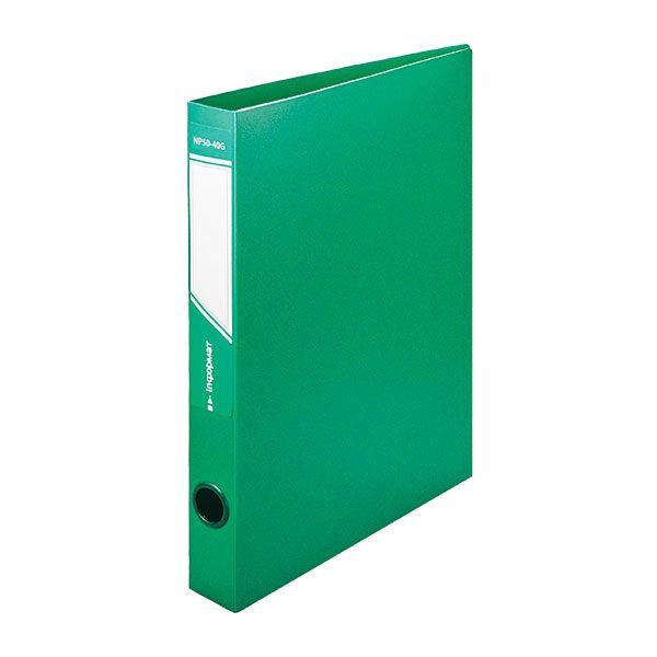 Папка с кольцами inФОРМАТ А4, 2 кольца, 40 мм, пластик 700 мкм, зеленая