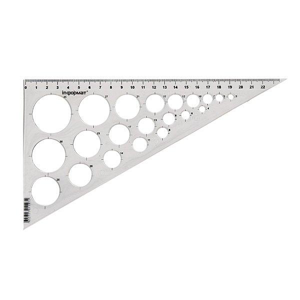 Треугольник 30° 25 см, пластик
