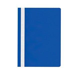 Папка-скоросшиватель LITE А4, синяя, пластик 110 мкм, карман для маркировки