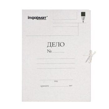 89ff93087d214318c850652839597d08 350x350 - Папка с завязками inФОРМАТ ДЕЛО А4 немелованный картон 400 г/м2 белая