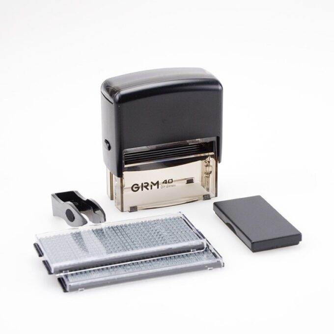grm 40 diy 680x680 - GRM 40 DIY 6 LINES, САМОНАБОРНЫЙ ШТАМП 6 СТРОК С ДВУМЯ КАССАМИ - ЭКОНОМ