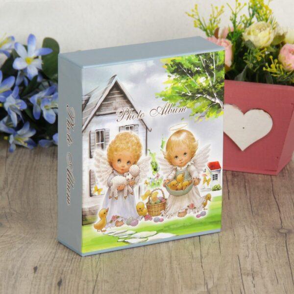 """Фотоальбом на 40 фото 10х15 см """"Малыши-ангелочки"""" в коробке МИКС 17х14х4,5 см"""