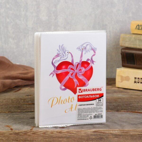 "Фотоальбом BRAUBERG на 36 фотографий 10х15 см""Любовь"" МИКС"