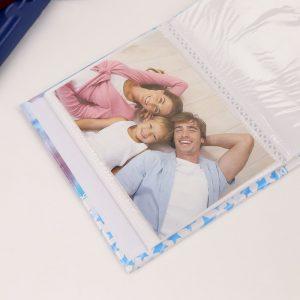 """Фотоальбом на 36 фото 10х15 см """"Наш малыш, голубые пинетки"""""""