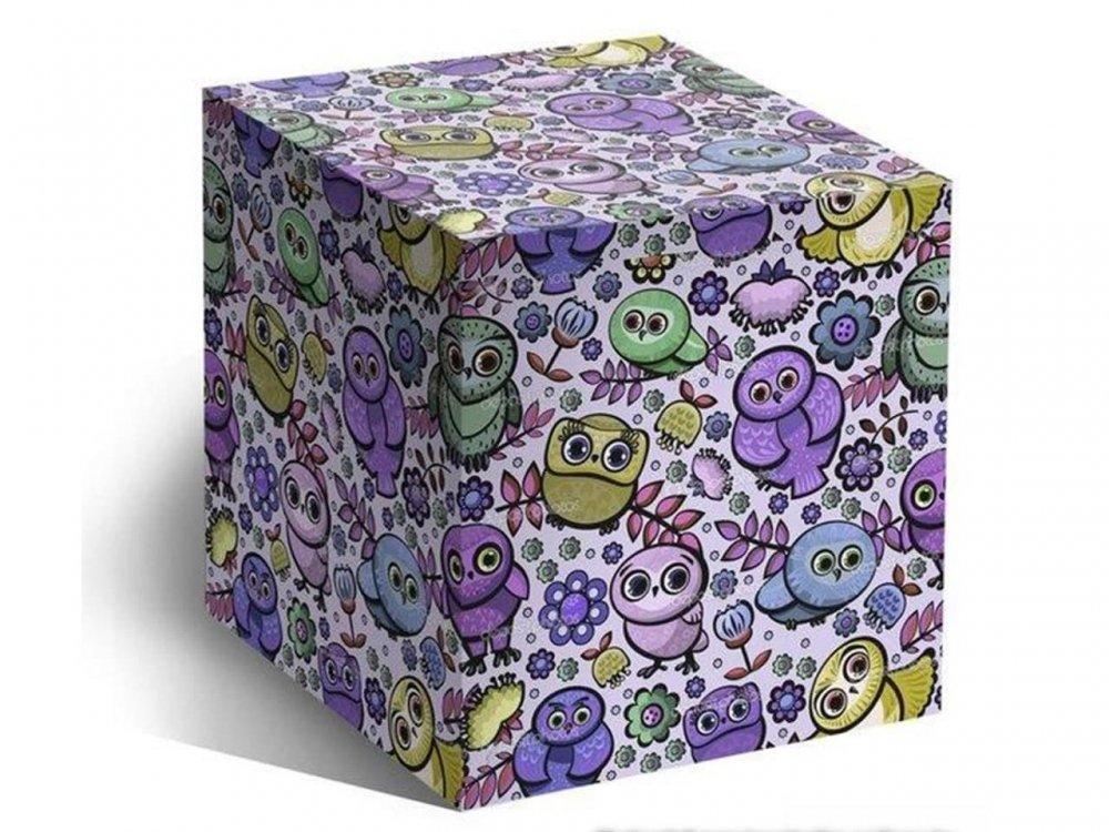 Коробка цветная, подарочная для стандартных кружек (Совушки)