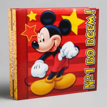 """700 350x350 - Фотоальбом на 150 фото в твёрдой обложке """"№1 во всем!"""", Микки Маус и друзья"""