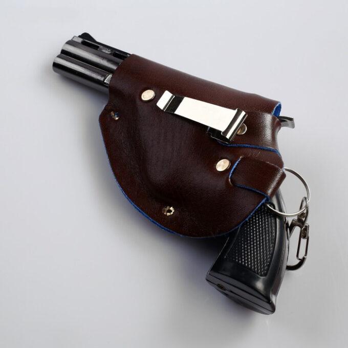 """700 5 1 680x680 - Зажигалка газовая """"Пистолет"""", в кобуре, пьезо"""