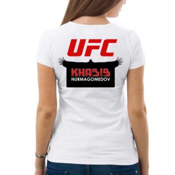 563u6u 350x350 - Футболка женская - Хабиб Нурмагомедов UFC ( спина )