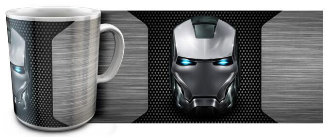 kr 11.8 680x284 - Кружка белая - Эмблема Железный человек сталь