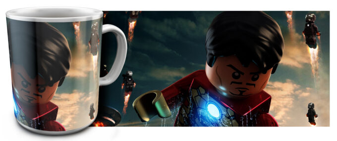 kr 2.1 680x284 - Кружка белая - Супер Герои Лего, Железный человек