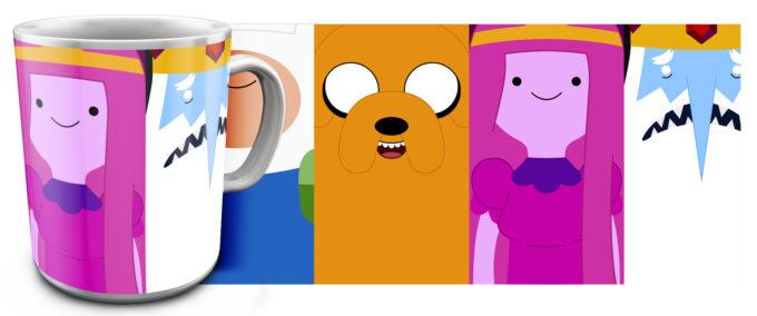kr 4.10 680x284 - Кружка белая - Время приключений , Adventure Time Все вместе