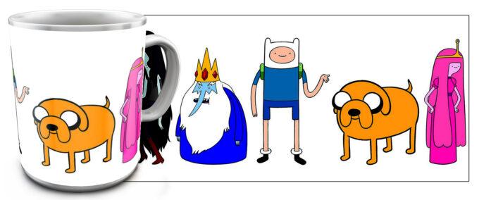 kr 4.12 680x284 - Кружка белая - Время приключений , Adventure Time все герои вместе