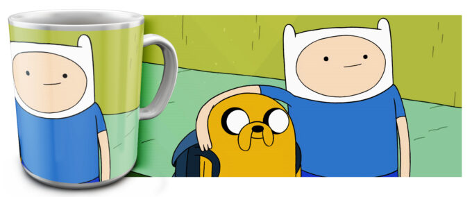 kr 4.4 680x284 - Кружка белая - Adventure Time, Финн и Джейк