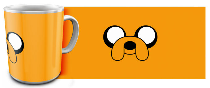 kr 4.9 680x284 - Кружка белая - Время приключений , Adventure Time Джейк нос