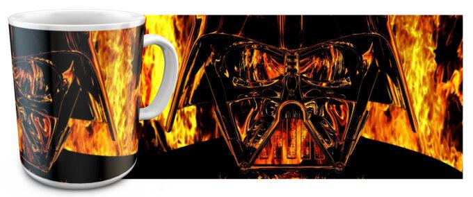 zv 11 680x284 - Кружка белая - Звездные войны, Дарт Вейдер огонь
