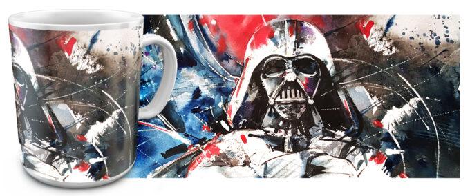 zv 15 680x284 - Кружка белая - Звездные войны, Дарт Вейдер нарисованный