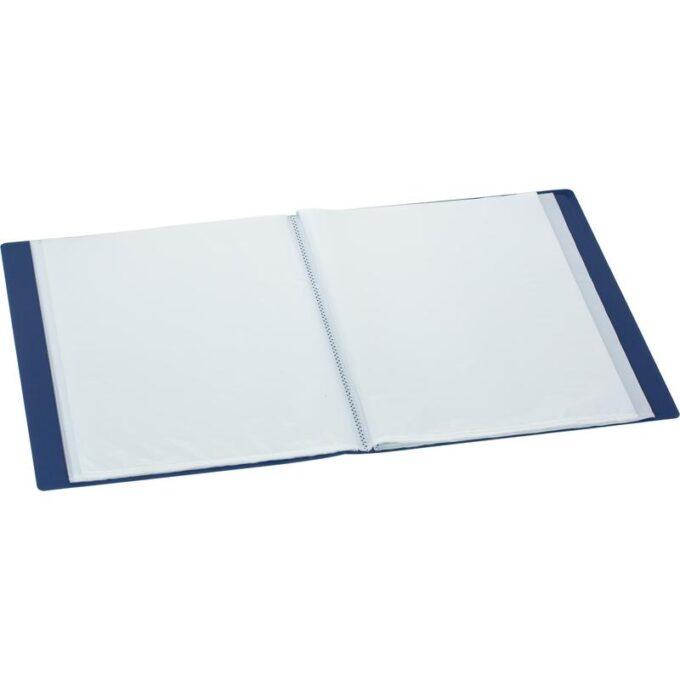 10590735171614 680x680 - Папка файловая на 60 файлов Attache A4 35 мм синяя (толщина обложки 0.6 мм)