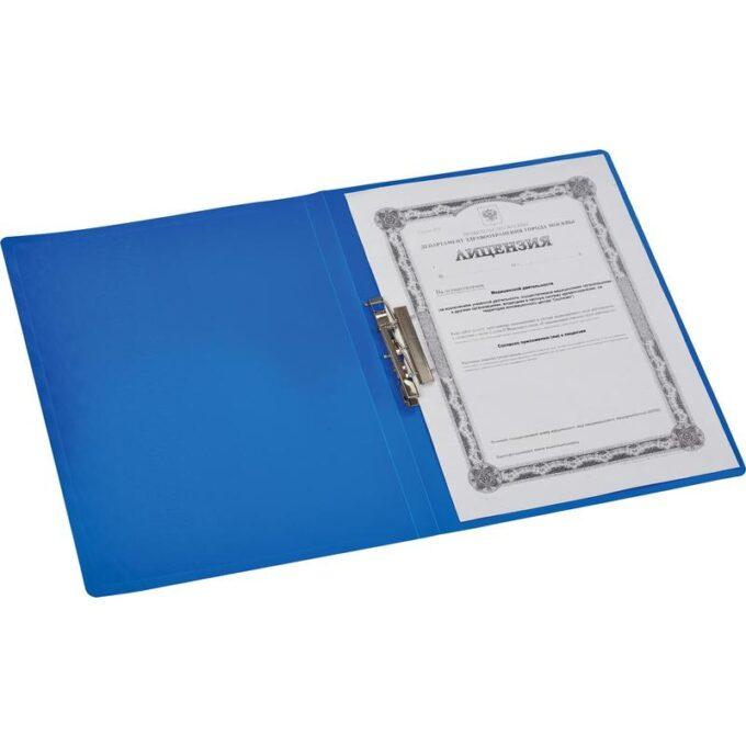 10724999528478 680x680 - Папка с зажимом Attache A4 0.35 мм синяя (до 120 листов)